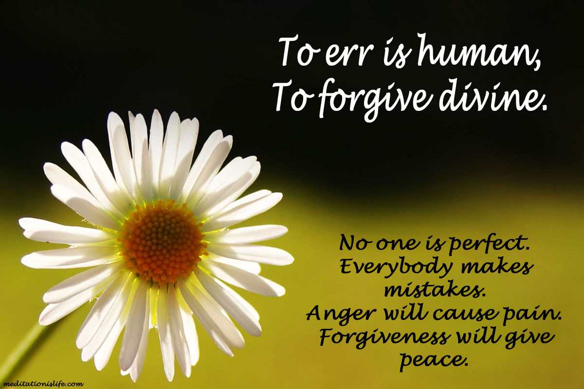 To forgive is divine